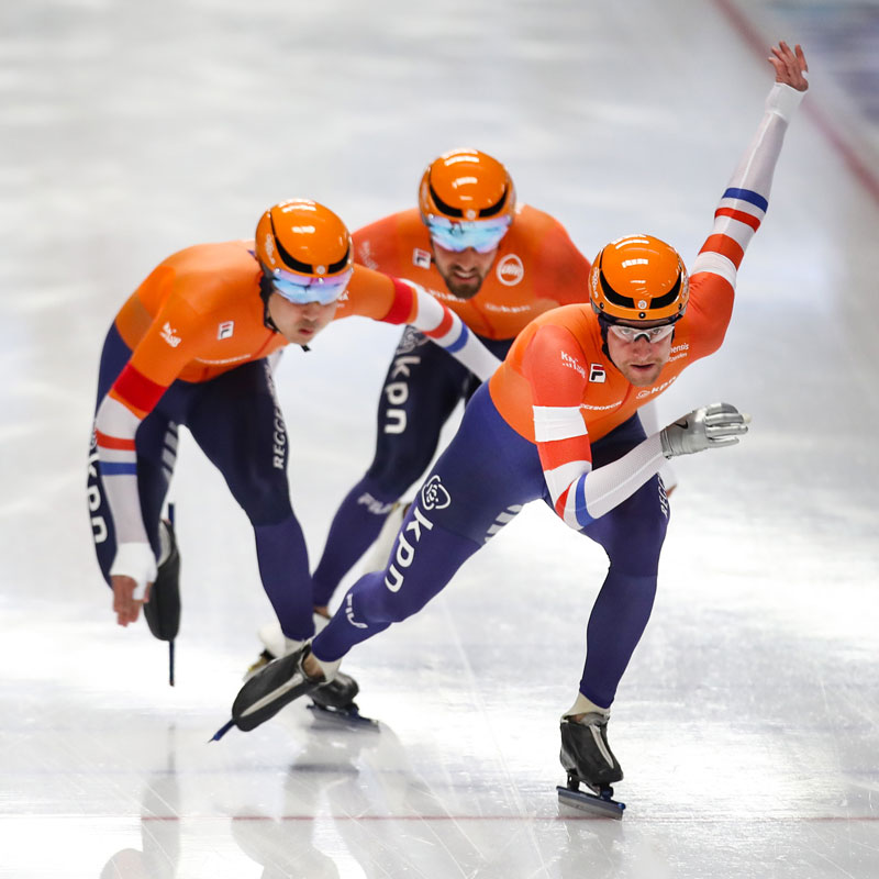Omega speedskating helmet teamNL